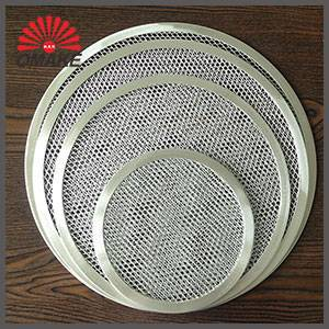 high qiuality oven cooking pans safty wire mesh pizza screen
