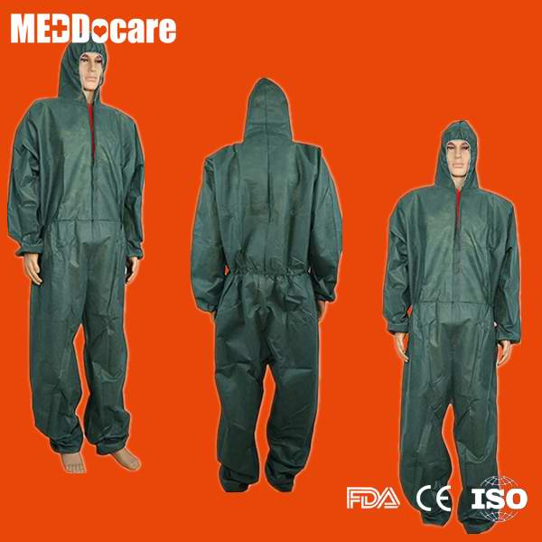 Sell spruce green coveralls disposable boiler suit