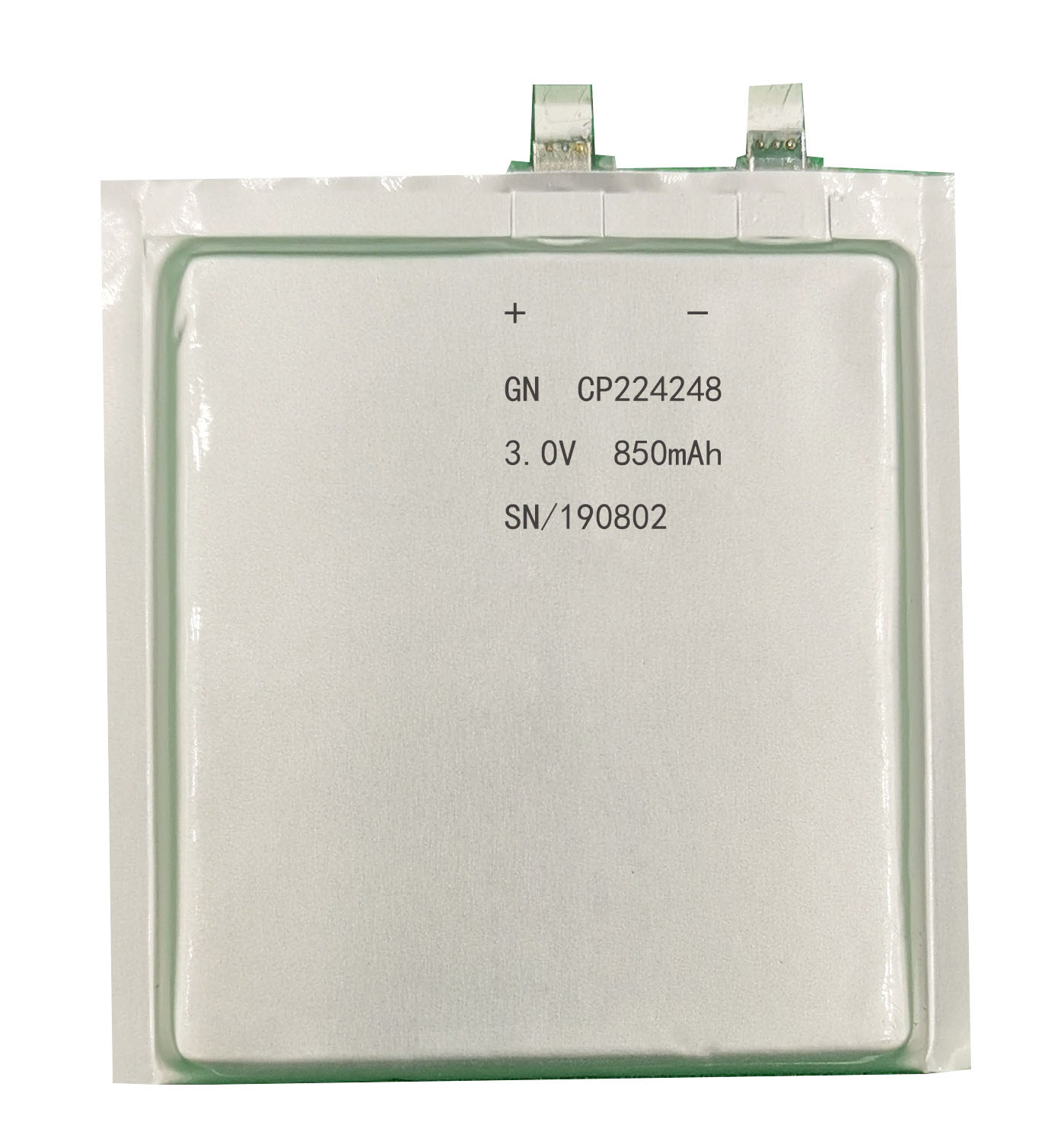 CP224248 3.0v 850mah thin cell battery for blue-tooth tags beacons