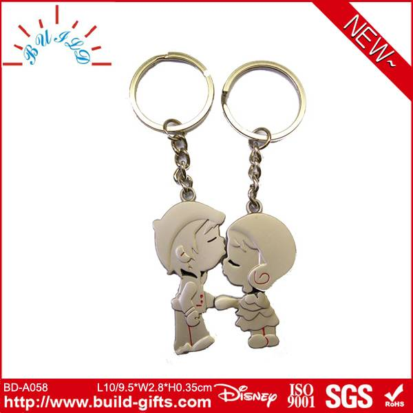 boy and girl kissing magnetic couple key chain