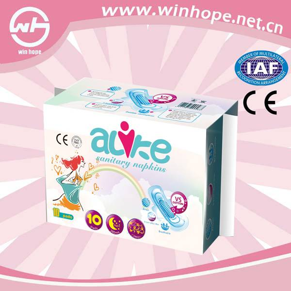 2014 Hot Selling Belted Sanitary Napkin With Free Sample