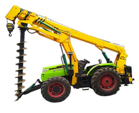 Strong off-road ability BOMR brand tractor pole drilling machine