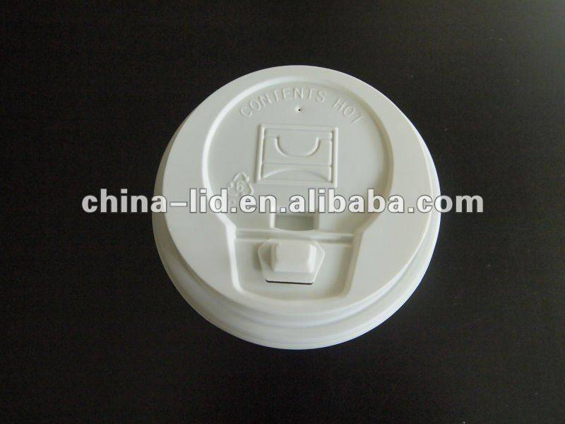 Disposable plastic cup lid