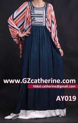 Cheap Fashion Ruffle Muslim Dress Kaftan