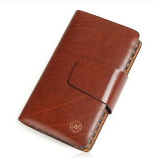 Hautton Brand Wholesale Leather Men Clutch Bag with Phone Clip SZB04
