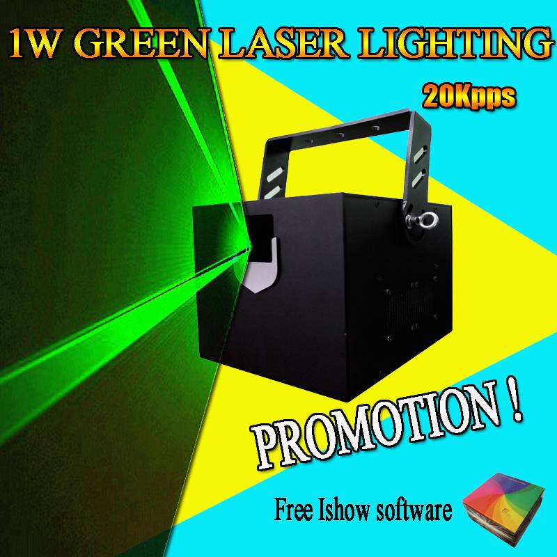 1W Green Color Disco laser beam projector stage lighting for indoor laser show
