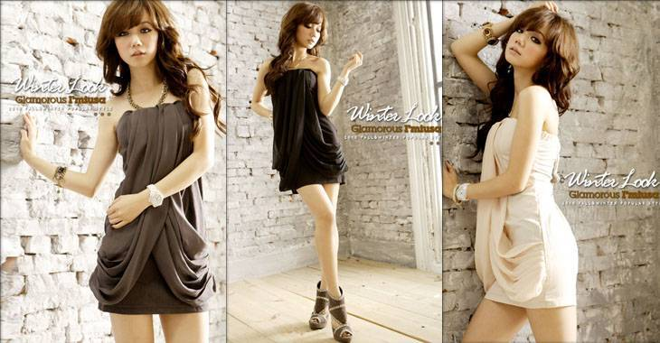 JJ fashion Sexy wipes bosom cross with dinner outfit    Products ID: 059C-81034#