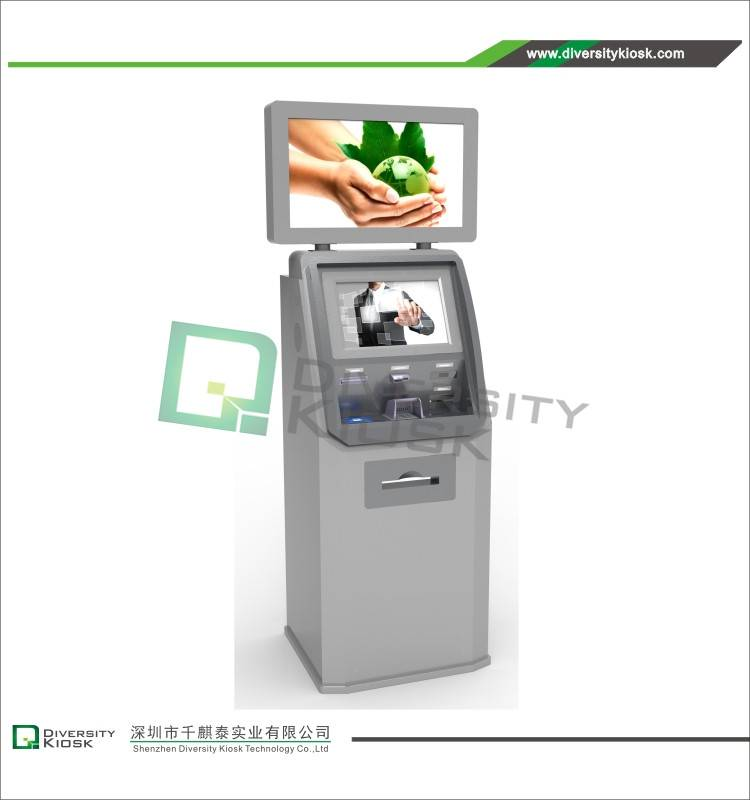 Dual Screen Freestanding Hospital Healthcare Kiosk
