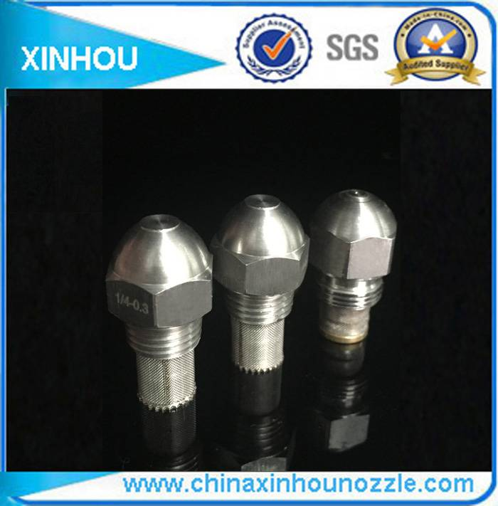Fuel injector brass oil spray nozzle
