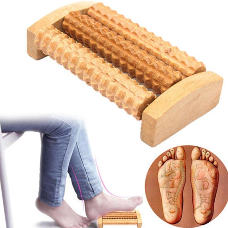 Heath Therapy Relax Massage Relaxation Tool Wood Roller Foot Massager Stress Relief Health Care Ther