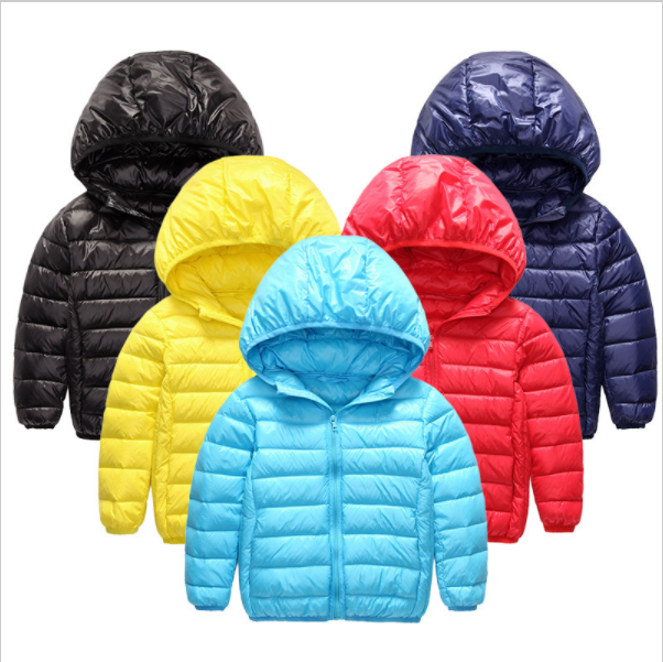 Overstock Duck Down Jacket For Boys Girls Jackets Light Coat Kids Clothes Outdoor Hooded