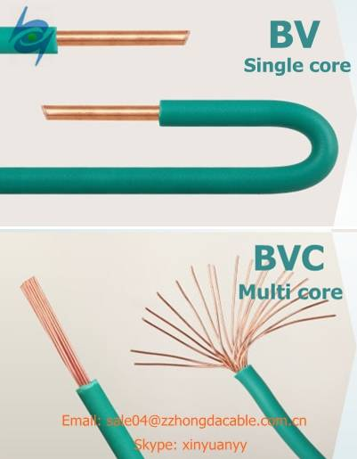 pvc insulated electric copper house wiring electric wire