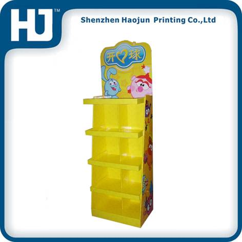 Pallets floors paper display stand for toys