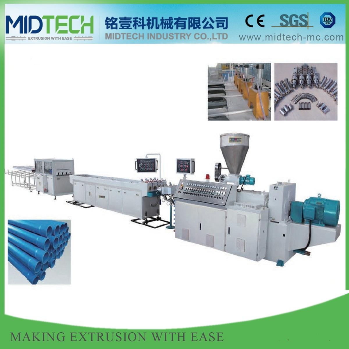 16-32mm Four Cavity PVC UPVC Conduit Electric Pipe Making Extrusion Machine Line