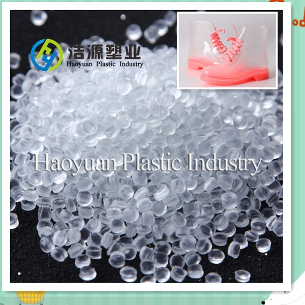 Transparent Eco-friendly PVC granules for soft footwear