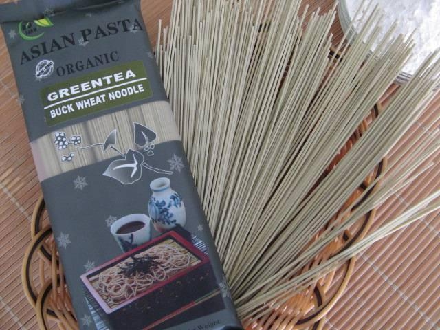 organic greentea noodle