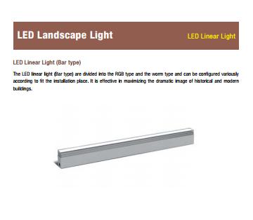 LED linear light - LED Landscape light by Bar type