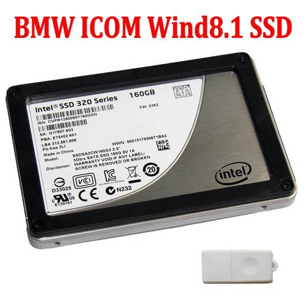 BMW ICOM Win8.1 Software SSD 07-2016 For BMW ICOM A2