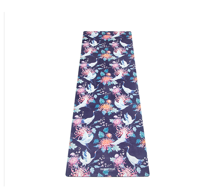 suede and rubber yoga mat