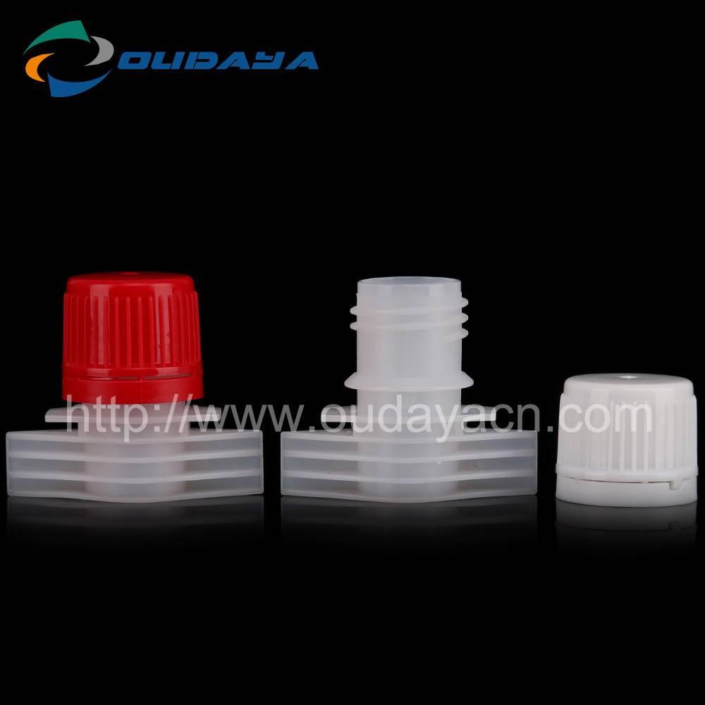 15mm high quality plastic spout cap with tube spout