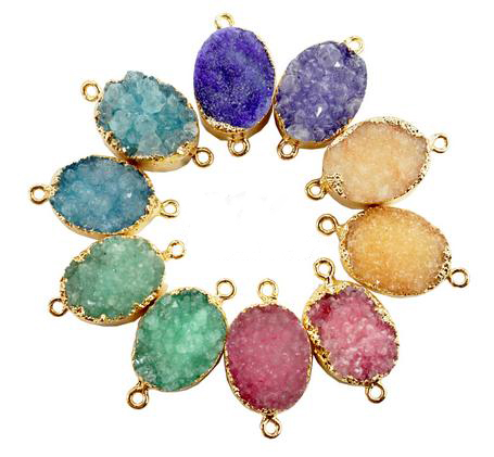 Beautiful fall colored natural stone pendants.