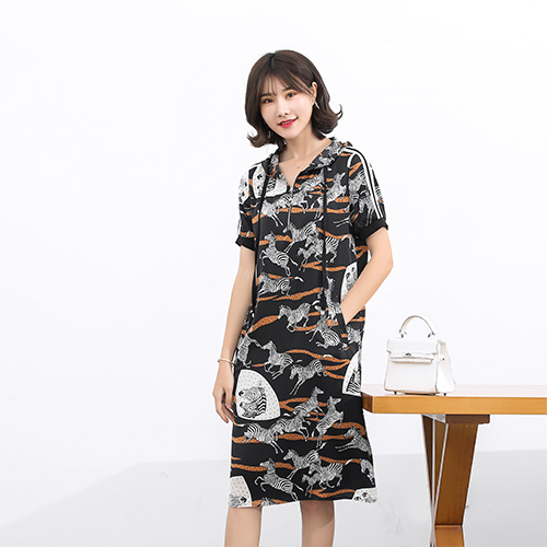 FUKESI2020 summer women's dress dresses women's mother dress zebra print dress