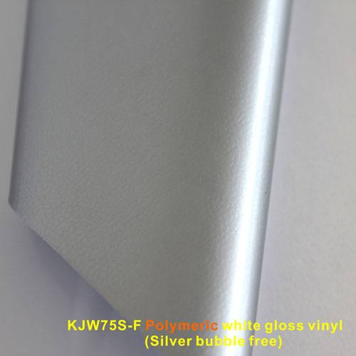 Polymeric white gloss vinyl(Silver bubble free)