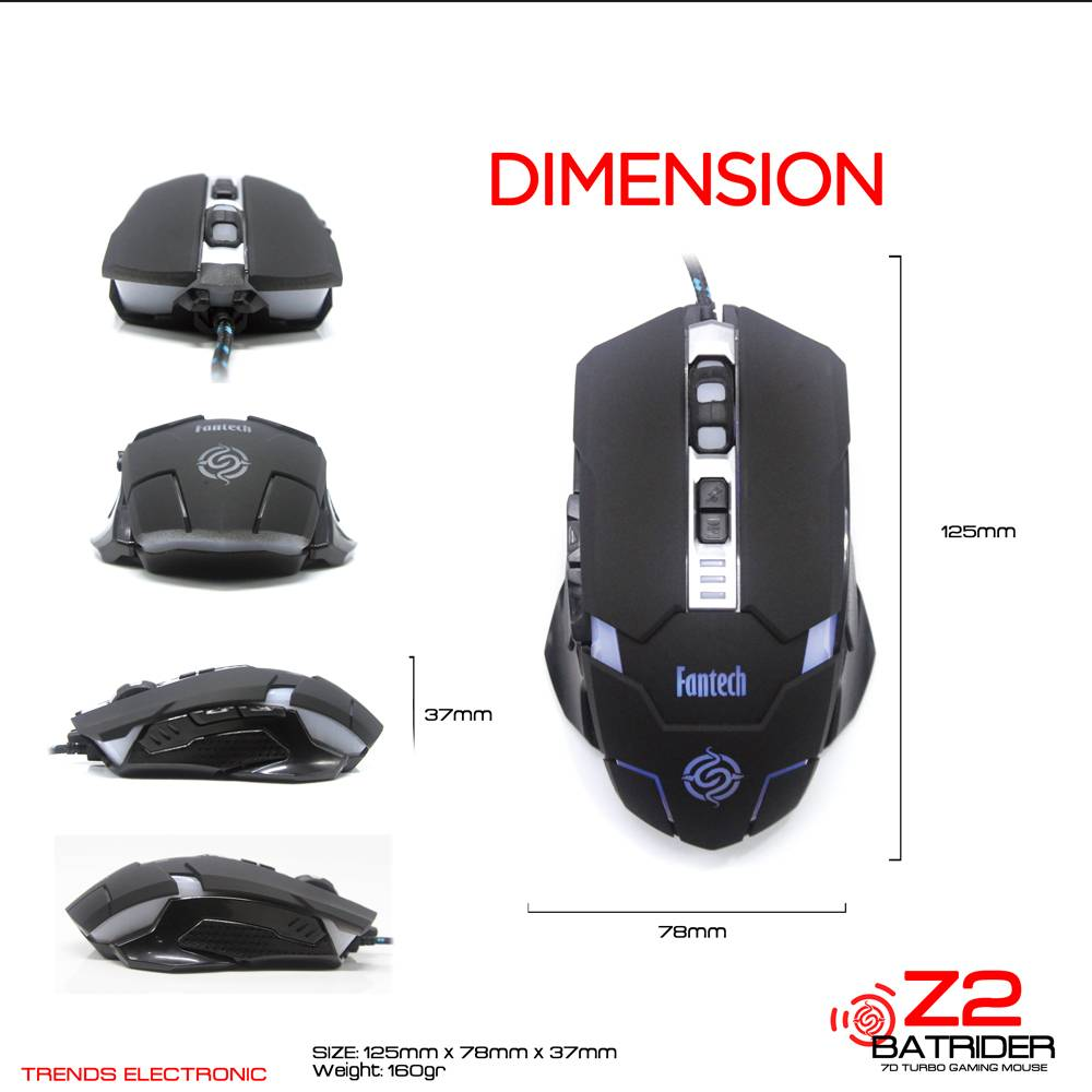 High Quality Wired Gaming Cable Mouse 6D