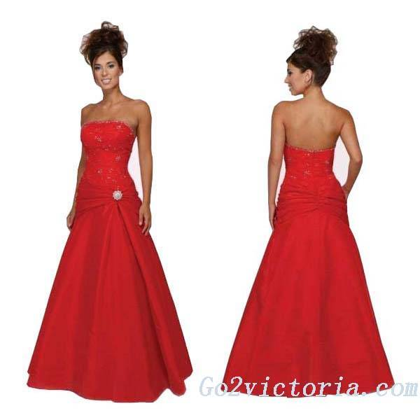 Wholesale Taffeta Evening / Prom Dress (R9065)