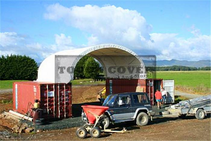 8m Wide Container Tent for 20' and 40' container TC2620C, TC2640C