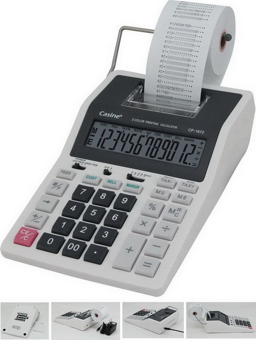 12 digit printing calculator