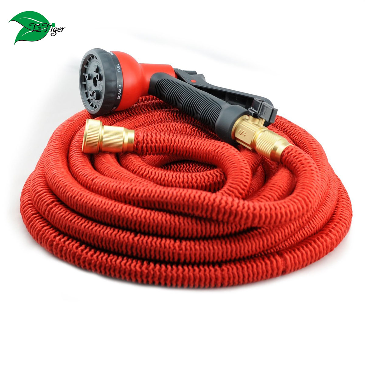 HEAVY DUTY 50' Feet Expandable Hose Set, Strongest Garden Hose With All Solid Brass latex garden hos