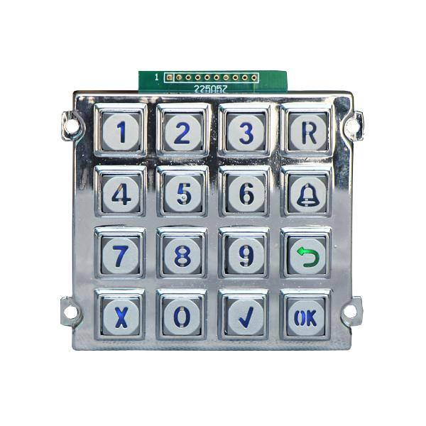 High Quality 16 button keypad rugged backlight keypad matrix keypad for customers with CE certificat