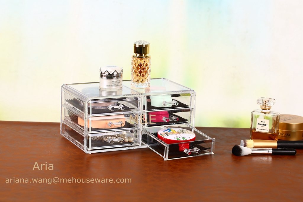 New Design Acrylic Makeup Organizer with 6 Drawer Only