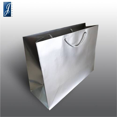 Currency big silver shopping bag