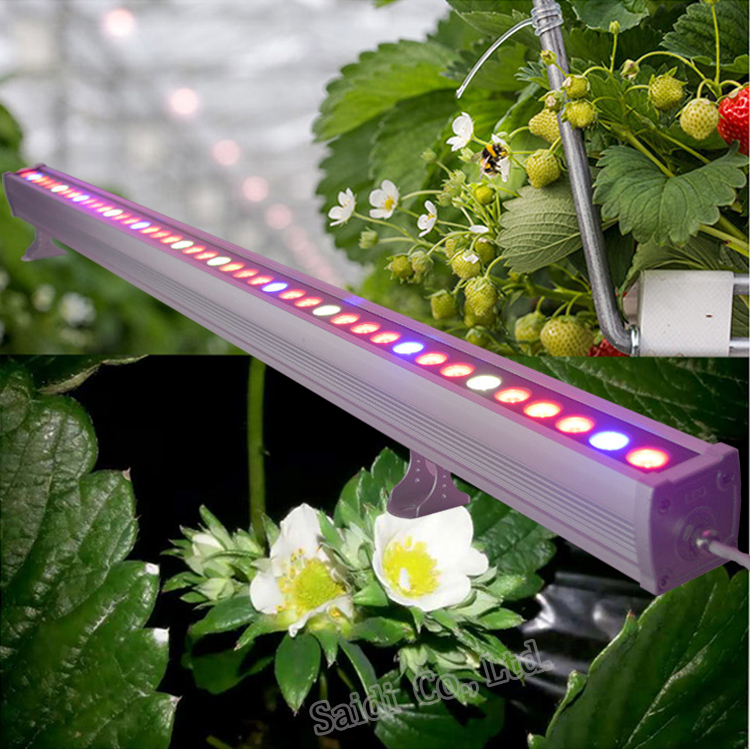 1.2M dimmable intelligent LED Grow Light Bar Hydroponics,Greenhouse,Farm Used