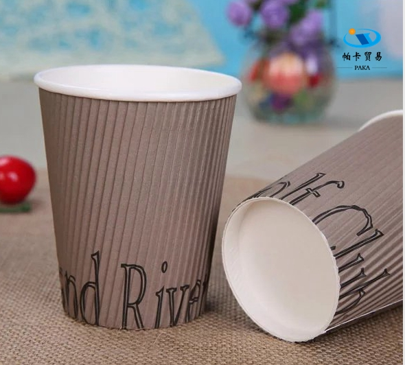 2017 Popular Hot Coffee Double Wall Ripple Paper Cup