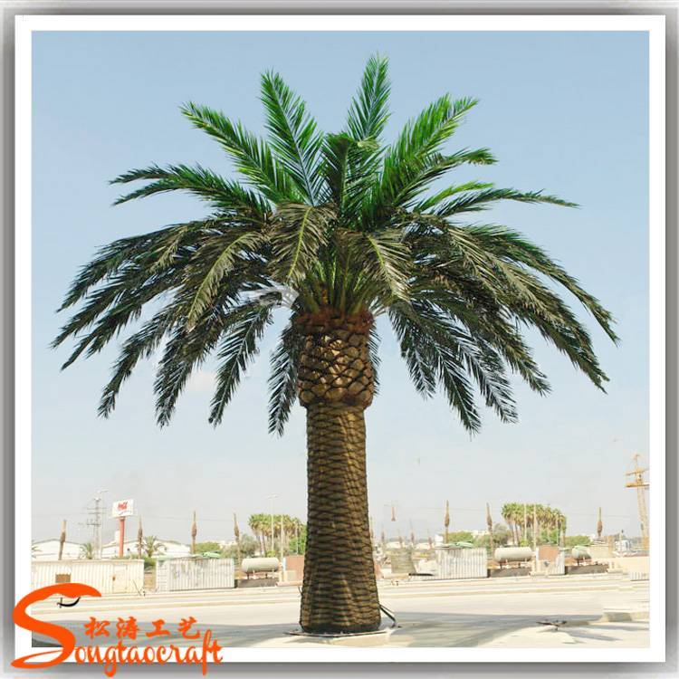 artificial tree and plants plastic palm tree for garden decor