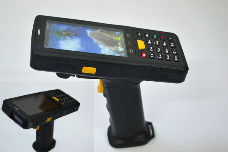 ST907V7.0 4 inch Android PDA with 1d 2d barcode scanner and pistol grip