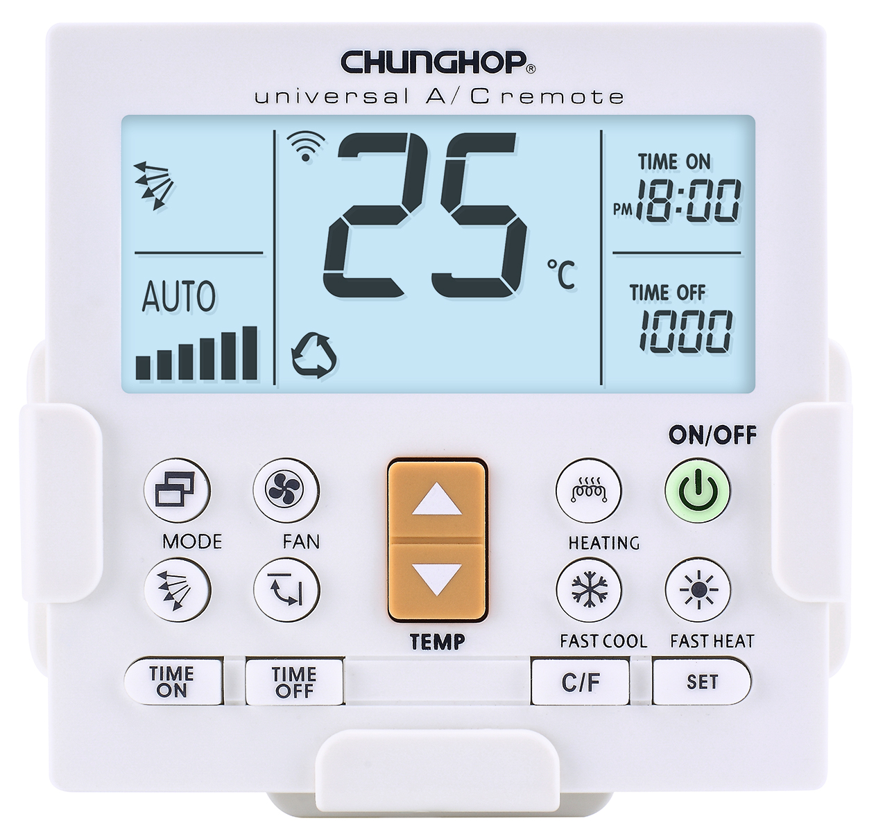 CHUNGHOP K-650E LCD Universal Air Conditioner Remote Control LED Backlit Wall Mounted AC Control