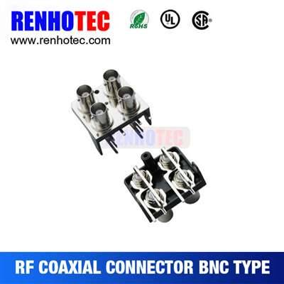 Two BNC to RCA Jack Connnectors In Two Rows