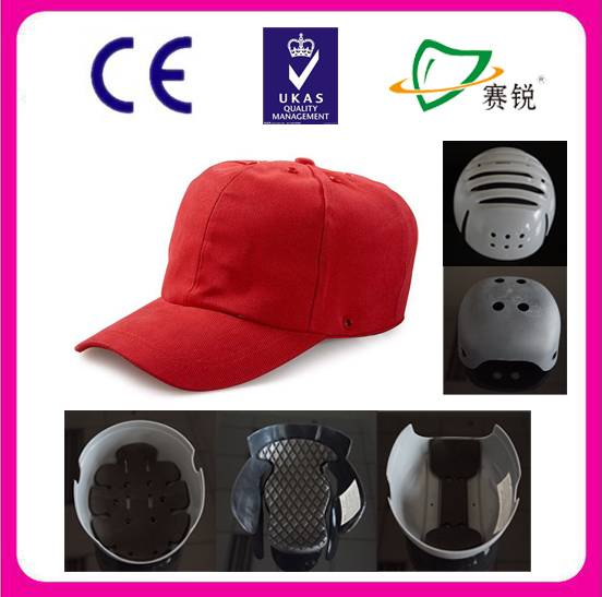 insert helmet removable plastic shell baseball bump cap for ladies mens