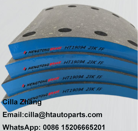 Brake lining for heavy duty truck brake system