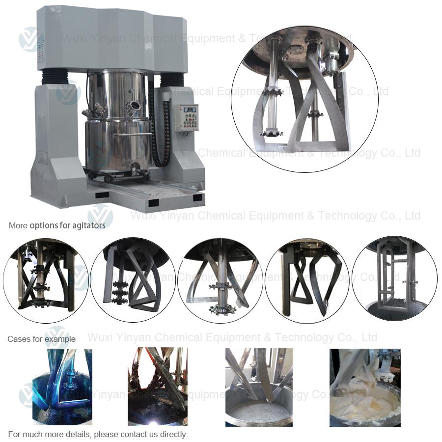 Planetary mixer machine for high viscosity adhesive making