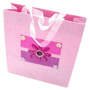 Love pink gift paper bag brown paper bags ZD-1262