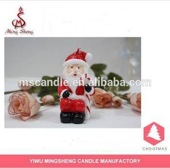 Funny Christmas santa claus candles