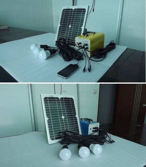 Solar powered integrated LED home lighting system