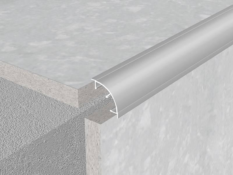 Aluminium ceramic tile trims