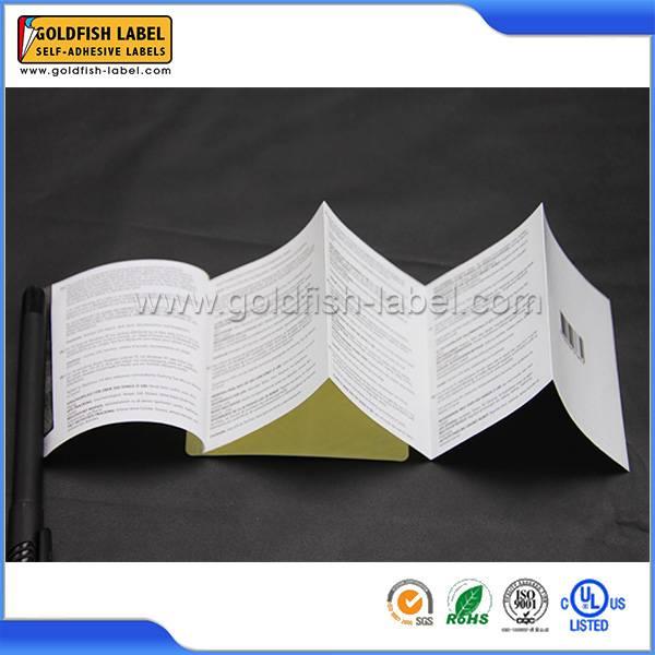 Custom booklet label & foldout label