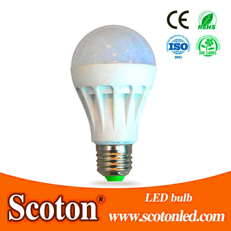 9W LED Bulb With Plastic Cover
